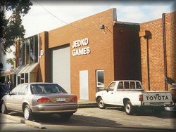 The warehouse of Military Simulations (aka Jedko Games).  For over eighteen years, this Melbourne (Australia) based company has been my regular mail order supplier of compelling fantasy reading, simulations, and games.  Highly recommended!  Photo taken by Anthony Larme in late August 2002.